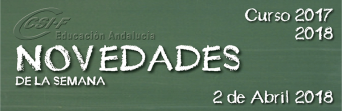 Andalucía - Novedades de la Semana 2/4/2018