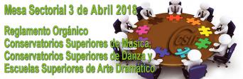 Resumen de la Mesa Sectorial de 3 de abril de 2018