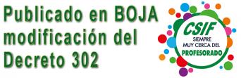 Publicada en BOJA la modificación del Decreto 302