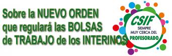 NUEVA ORDEN QUE REGULA LAS BOLSAS DE TRABAJO DEL PERSONAL FUNCIONARIO INTERINO Y ESTABLECE LAS BASES REGULADORAS DE DICHO PERSONAL.