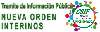 Trámite de información pública del Proyecto de Orden por la que se regulan las bolsas de trabajo docentes y se establecen las bases aplicables al personal integrante de las mismas