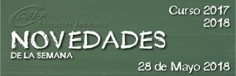 Andalucía - Novedades de la Semana 28/5/2018