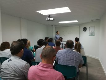 Responsables y delegados sindicales en la Jornada interna de formación celebrada en la ciudad de Cartagena.