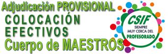 Publicada la Adjudicación PROVISIONAL de destinos para le Cuerpo de Maestros 2018-2019