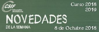 Andalucía - Novedades de la Semana 8/10/2018
