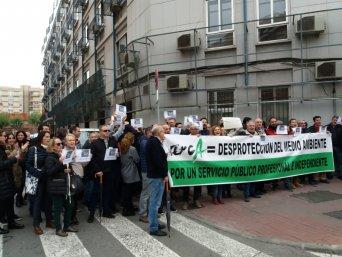 Concentración para reivindicar más medios humanos y materiales y exigir la retirada de la propuesta de Ley de creación del ARCA
