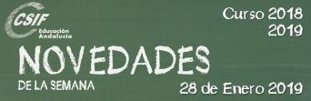 Andalucía - Novedades de la Semana 28/1/2019