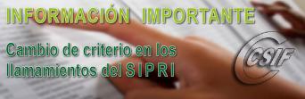 Información IMPORTANTE sobre SIPRI