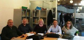 Representantes de CSIF en la reunión de la Mesa Sectorial de Administración y Servicios