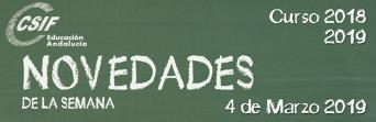 Andalucía - Novedades de la Semana 5/3/2019