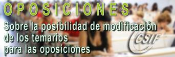 MODIFICACIÓN DE TEMARIOS PARA OPOSICIONES