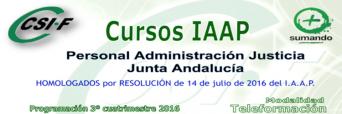 Cursos IAPP impartido por CSIF Personal de la Administración de Justicia de la Junta de Andalucía