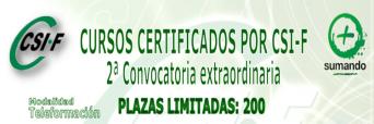 Cursos Certificados por CSIF – 2º Convocatoria Extraordinaria para el sector Sanitario