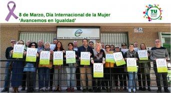Afiliados y simpatizantes de CSIF se concentran para denunciar incumplimientos en materia de Igualdad