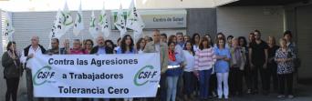 Protesta por una agresión en el centro de salud de Álora, en octubre de 2018