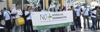 Protesta de los trabajadores municipales el pasado mes de noviembre