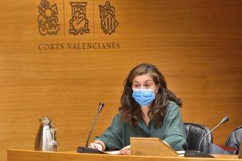 Alicia Torres, en la comisión de hoy de Les Corts