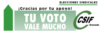 CSIF Granada gana las elecciones en la Administración General del Estado