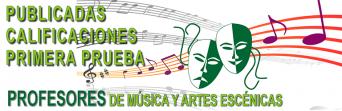 Publicadas las calificaciones de la primera prueba del procedimiento selectivo de ingreso del cuerpo de Profesores de Música y Artes Escénicas