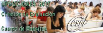 Oposiciones de Maestros - Criterios de Evaluación