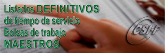 Resolución DEFINITIVA de las BOLSAS de Trabajo del Cuerpo de MAESTROS