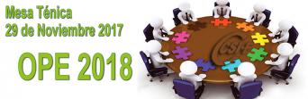 Información Mesa Técnica del 29 de noviembre de 2017 - OPE