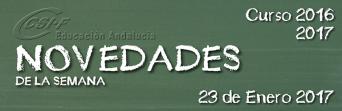 Andalucía - Novedades de la Semana 23/1/2017
