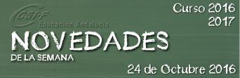 Andalucía - Novedades de la Semana 24/10/2016