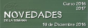 Andalucía - Novedades de la Semana 19/12/2016