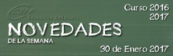 Andalucía - Novedades de la Semana 30/1/2017