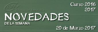 Andalucía - Novedades de la Semana 20/3/2017
