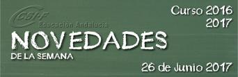 Andalucía - Novedades de la Semana 26/6/2017