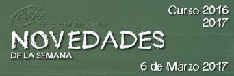 Andalucía - Novedades de la Semana 6/3/2017