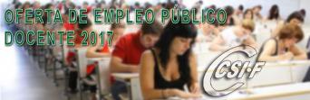 OFERTA DE EMPLEO PÚBLICO DOCENTE 2017