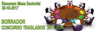 Resumen Mesa Sectorial del 30 de octubre de 2017
