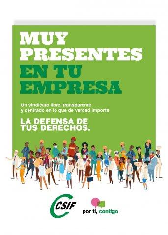 "CARTEL ""Muy presentes en tu empresa"" CSIF Andalucía"