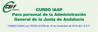 Curso homologado del IAAP para Agentes de medio ambiente y Celadores forestales