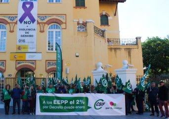 Momento de la protesta en Málaga