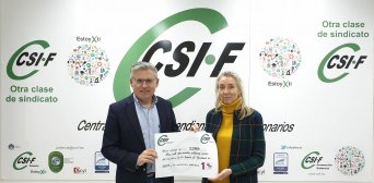 CSIF entrega 2.280 € a la Asociación palentina TDA-H