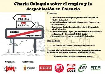 Charla coloquio sobre el empleo y la despoblación en Palencia