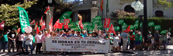 Concentración en defensa de la jornada laboral de 35 horas semanales en la Administración Pública