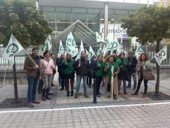 Concentración CSIF Gobierno Cantabria