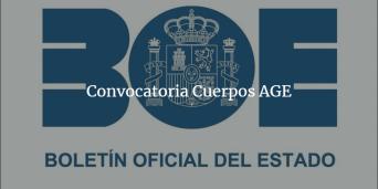 Convocatoria Cuerpos AGE