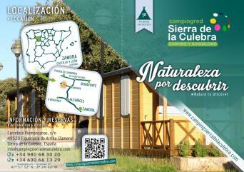 Diptico información Camping Sierra de la Culebra