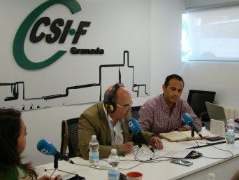 CSIF COPE Más Granada - presidente CSIF Granada, Germán Girela