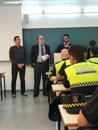 Director ESPA, Isidoro Beneroso,  junto a responsable Área Seguridad Administración Local Andalucía CSIF, Jesús Blandón
