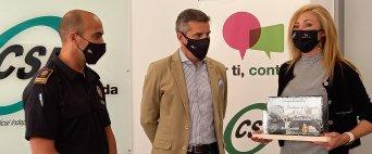 CSIF reconoce la labor del cuerpo de Bomberos de Granada con motivo de la celebración de su Bicentenario