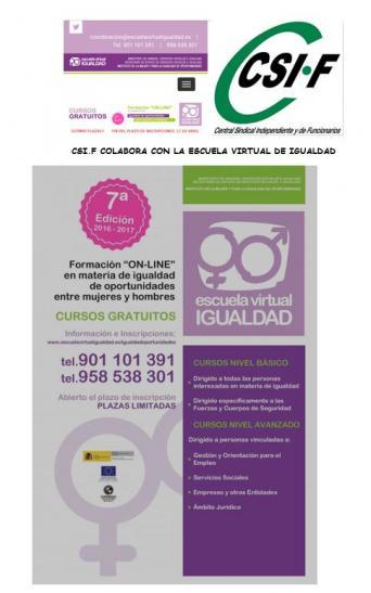 """Formación """"ON-LINE"""" en materia de igualdad de oportunidades entre hombres y mujeres"""