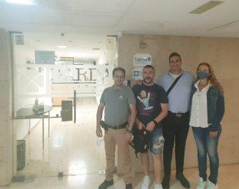 José Luis Sáez, junto al equipo de CSIF en Garda Seguridad