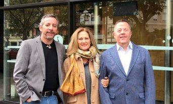 Paula Breñas, con Jerónimo Parejo y Toni Yeves